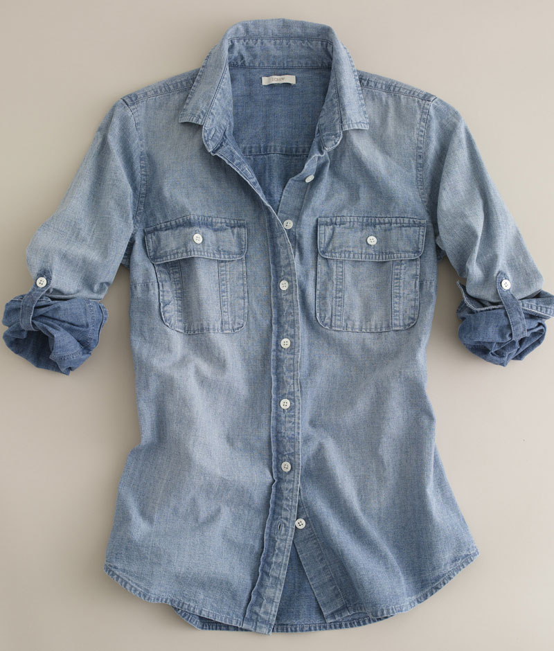 The all-American women's denim shirt from Old Navy flaunts reinvented fits. Shop trendy chambray shirts for women here.
